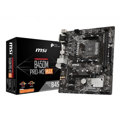 Adquiere tu Placa Madre MSI B450M PRO-M2 MAX, AM4, B450, DDR4, SATA 6.0, USB 3.2 en nuestra tienda informática online o revisa más modelos en nuestro catálogo de Placas Madre MSI