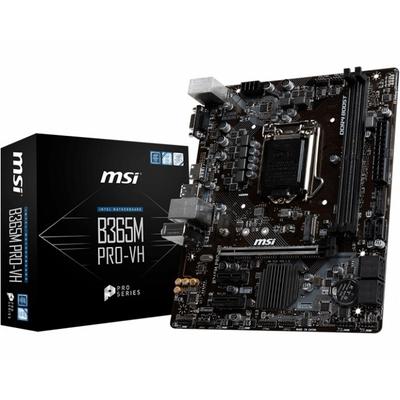 Adquiere tu Placa MSI B365M PRO-VH, LGA1151, B365, DDR4, SATA 6.0, USB 3.1 en nuestra tienda informática online o revisa más modelos en nuestro catálogo de Placas Madre MSI