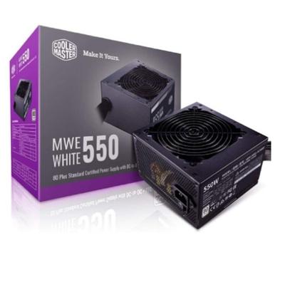 Adquiere tu Fuente de poder Cooler Master MWE 550, 550W, ATX, 80 Plus White, 100~240VAC. en nuestra tienda informática online o revisa más modelos en nuestro catálogo de Fuentes de Poder Cooler Master