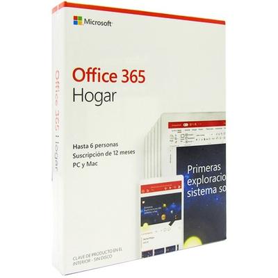 Adquiere tu Microsoft Office 365 Hogar, 64 Bits, Español, 6 usuarios, 1 año. en nuestra tienda informática online o revisa más modelos en nuestro catálogo de Microsoft Office Microsoft